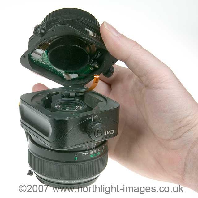 modifying ts-e90 tilt shift lens