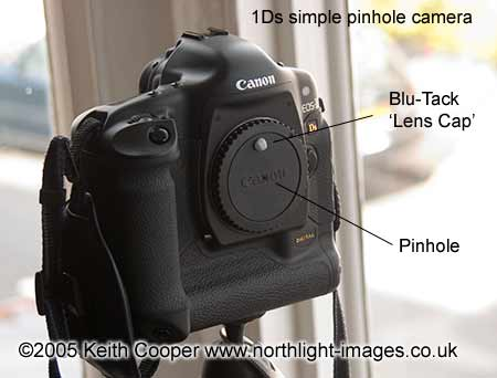 A digital pinhole camera using a Canon 1Ds