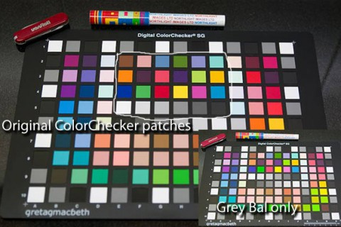Digital Camera profiling with SG ColorChecker card