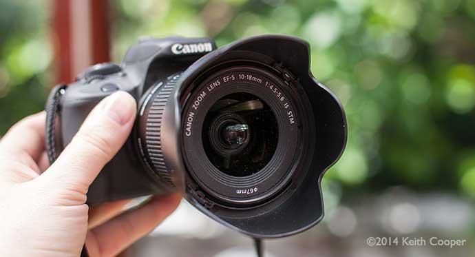 Canon lens hood