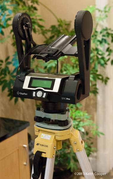 Use a survey tripod for the GigaPan Epic Pro