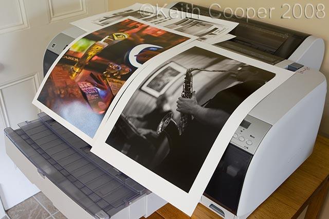 two Innova test prints