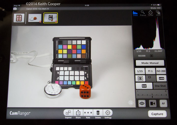 X-Rite ColorTRUE and the CamRanger - a colour management option for