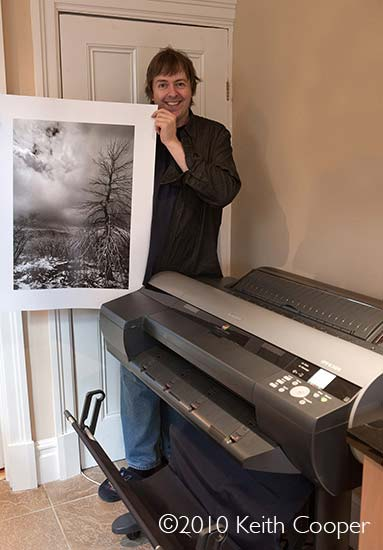 keith and a print