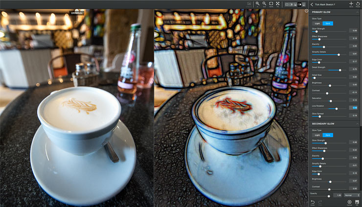 Topaz glow 2 coffee