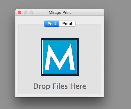 Mirage print software drop box