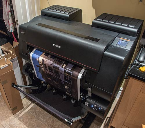 Canon pro-2000 printer producing 24 inch width print