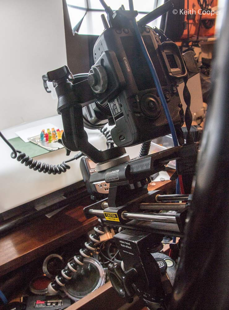 macro camera support
