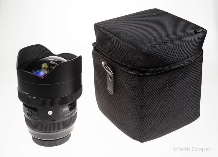 sigma 12-14mm f4 lens and bag