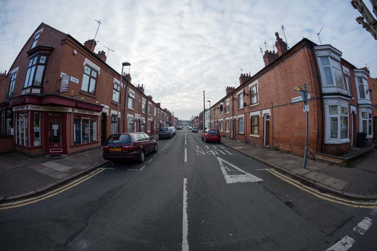 misty street