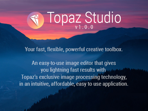 Topaz Studio for image editing - plugin and edit application