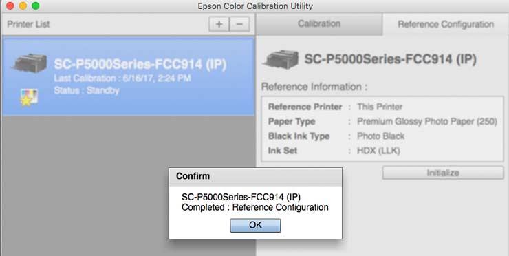Setting up the Epson P5000 printer - installation and setup