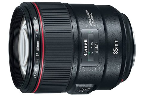 85mm f/1.4 Canon lens