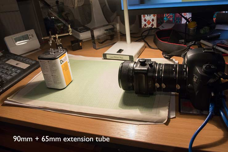 tubes and 90mm lens