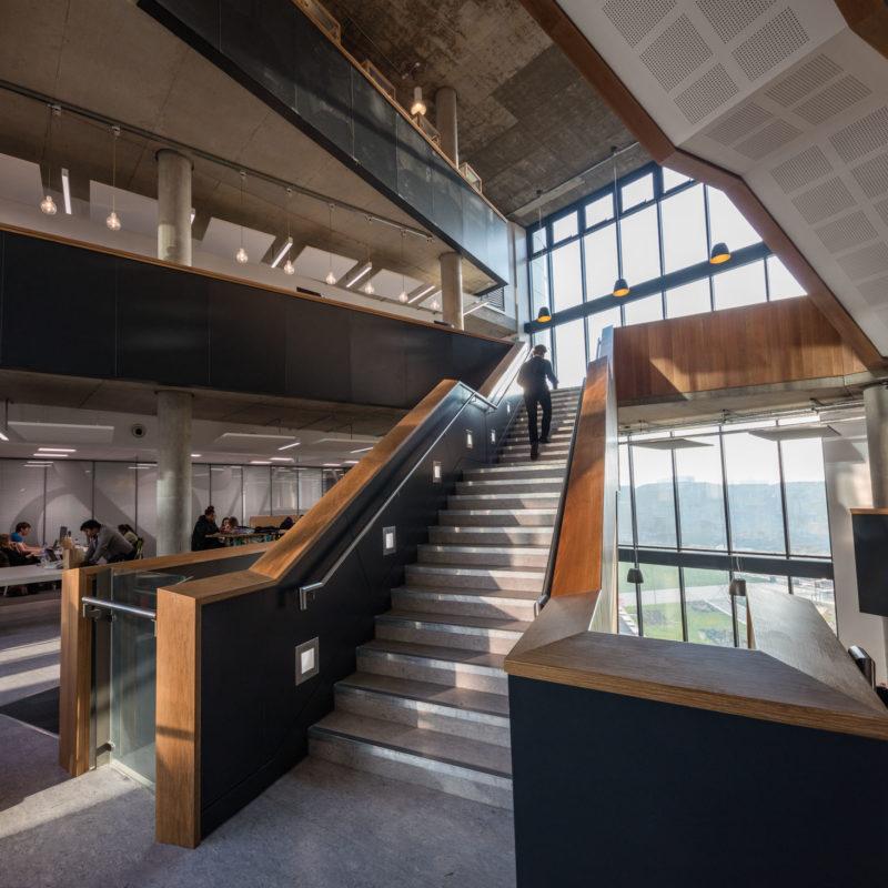 mid level stairway