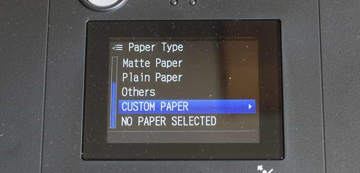 paper type custom