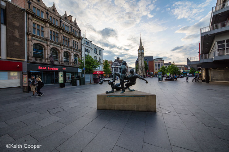 Leicester sports statue