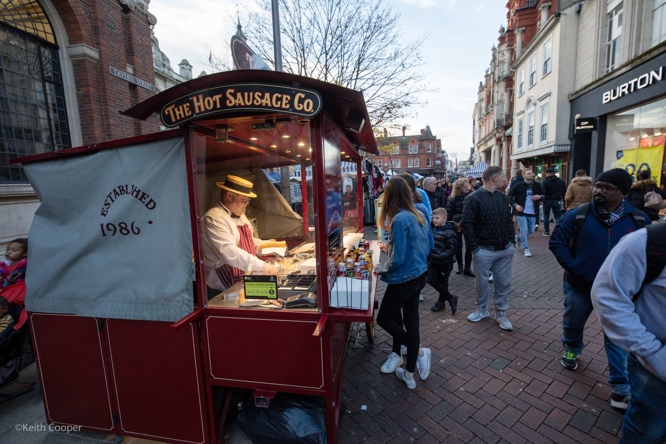 hot sausage stall