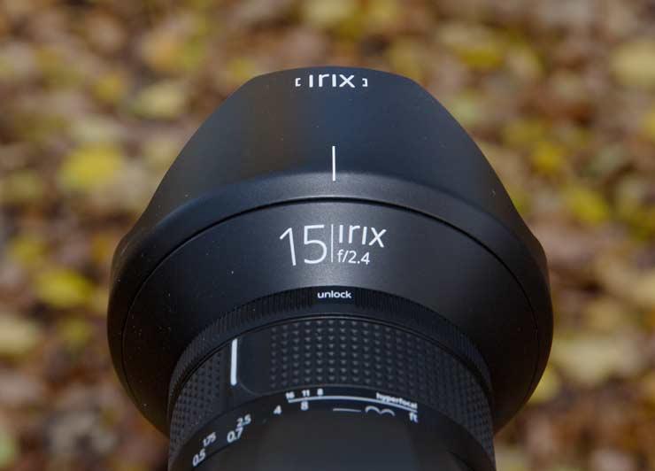 irix 15mm f/2.4 lens