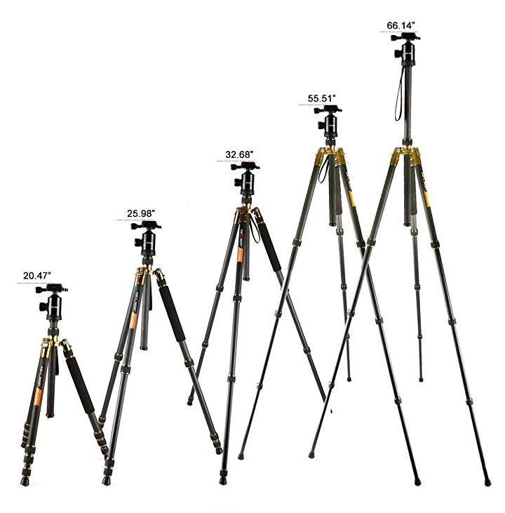 tc2534 tripod heights