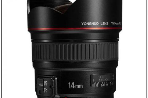 Yongnuo YN 14mm f/2.8 Ultra-wide Angle Prime Lens