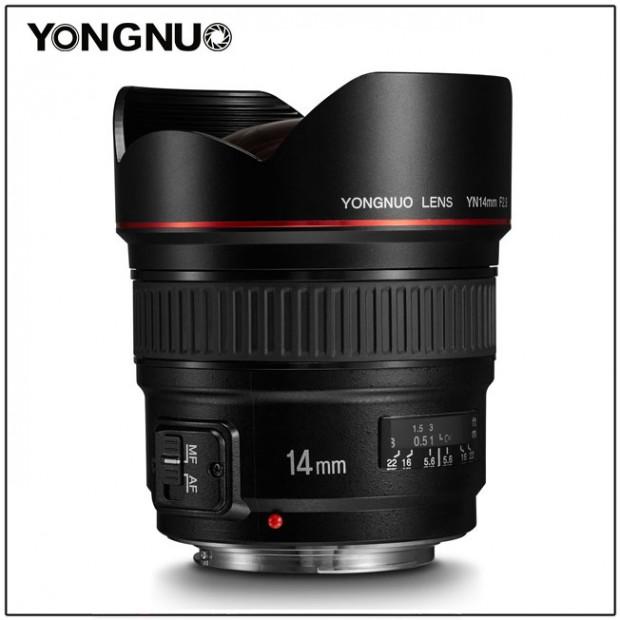 yongnuo yn 14mm f-2.8 lens
