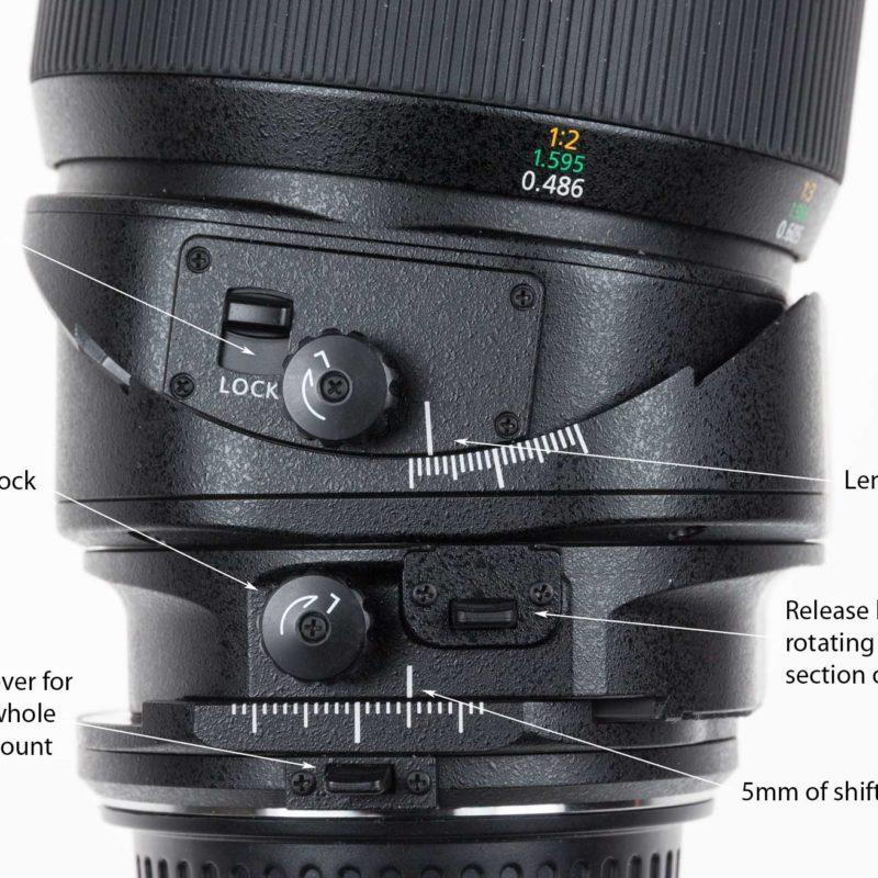 135mm lens settings