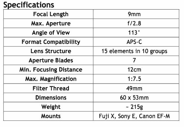 9mm specifications