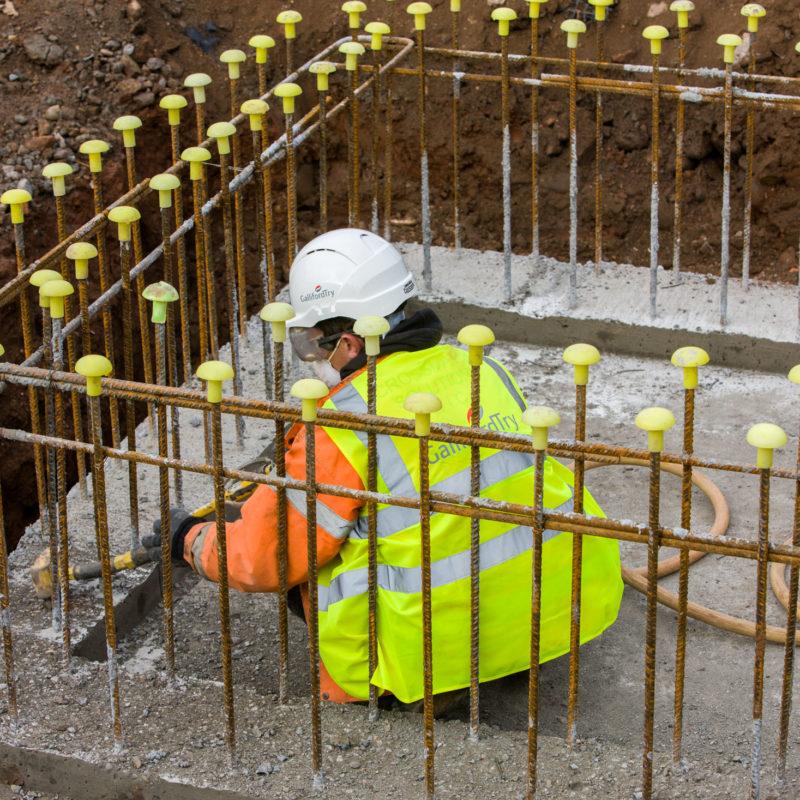 Checking concrete work