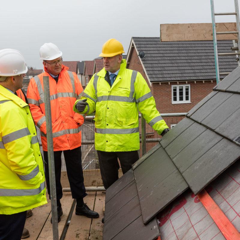 Roof tile inspection site visit