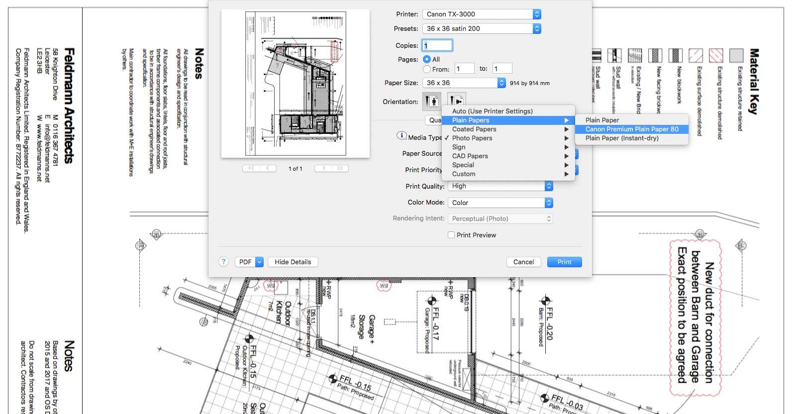 CAD print