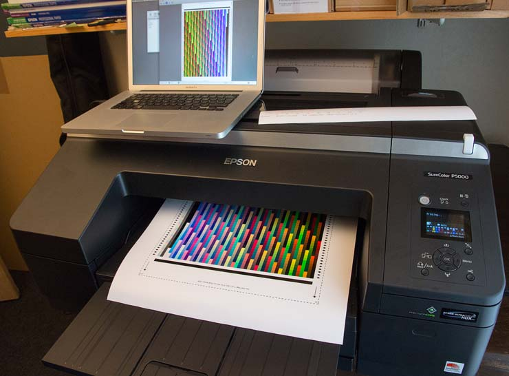 P5000 profiling-target-on-roll-paper
