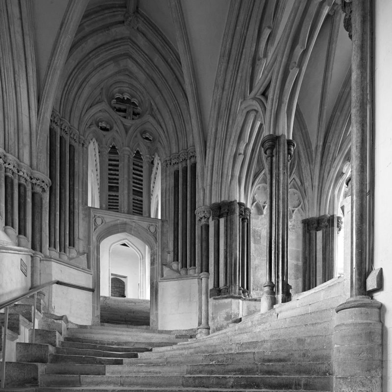Sea of steps at Wells cathedral