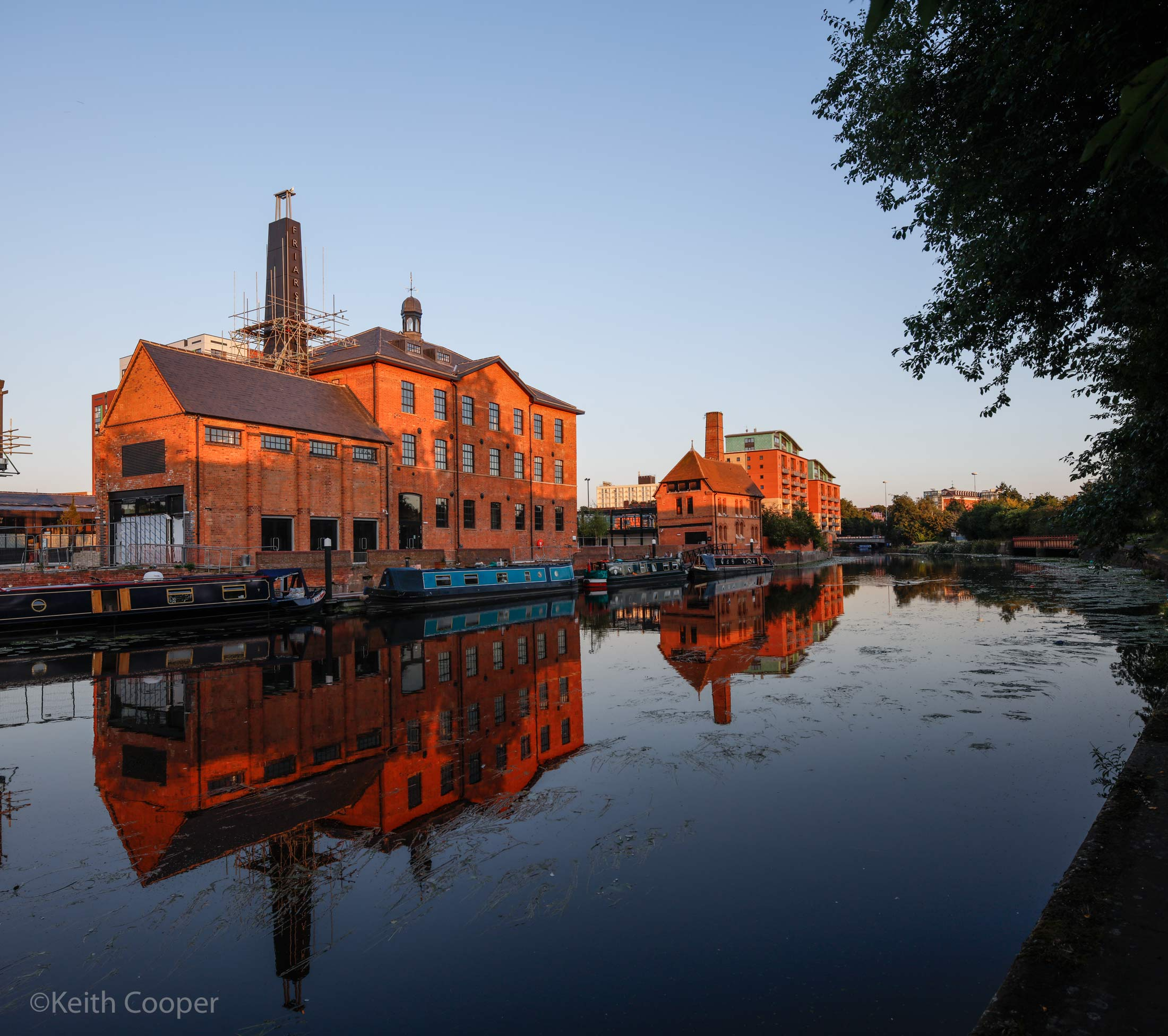 friars mill sunset light