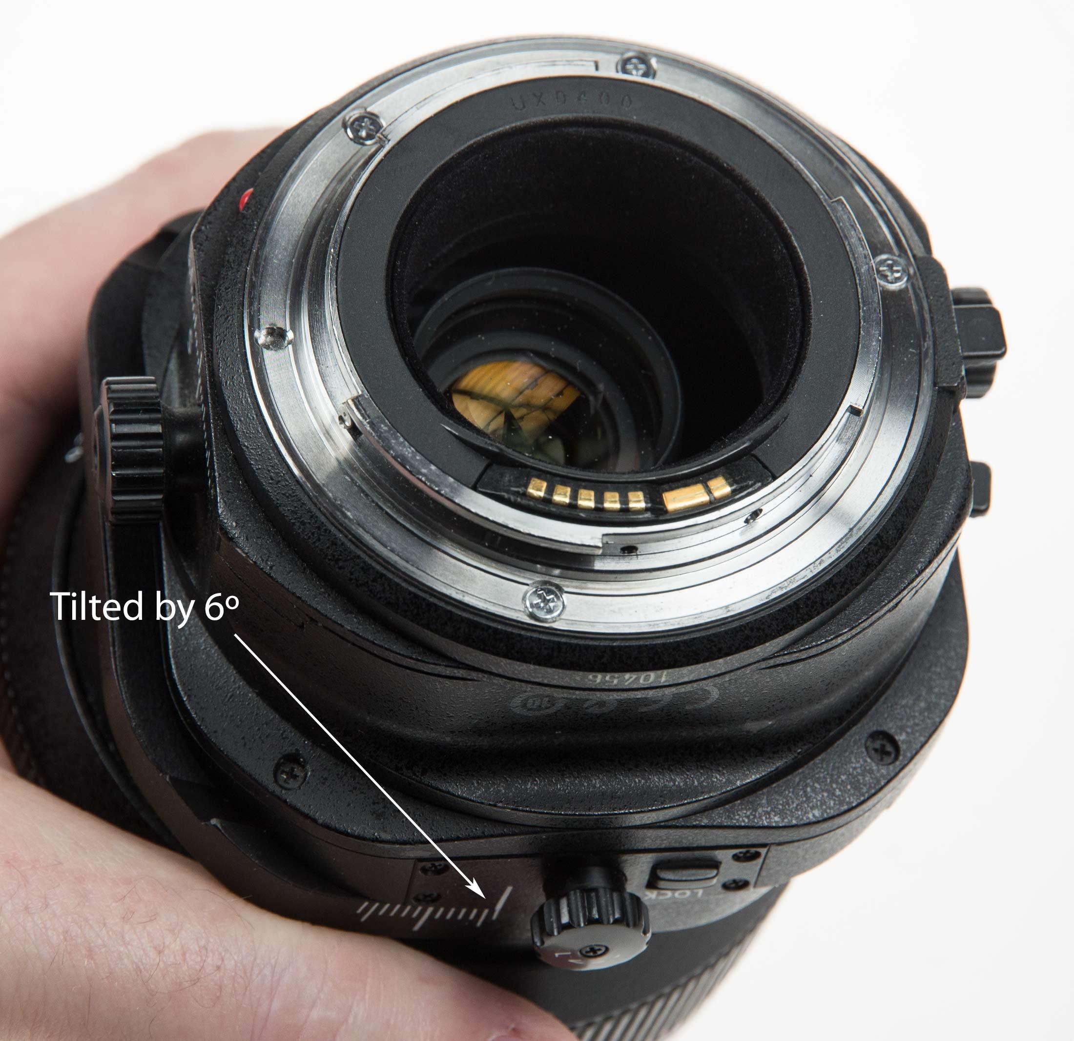 lens tilted