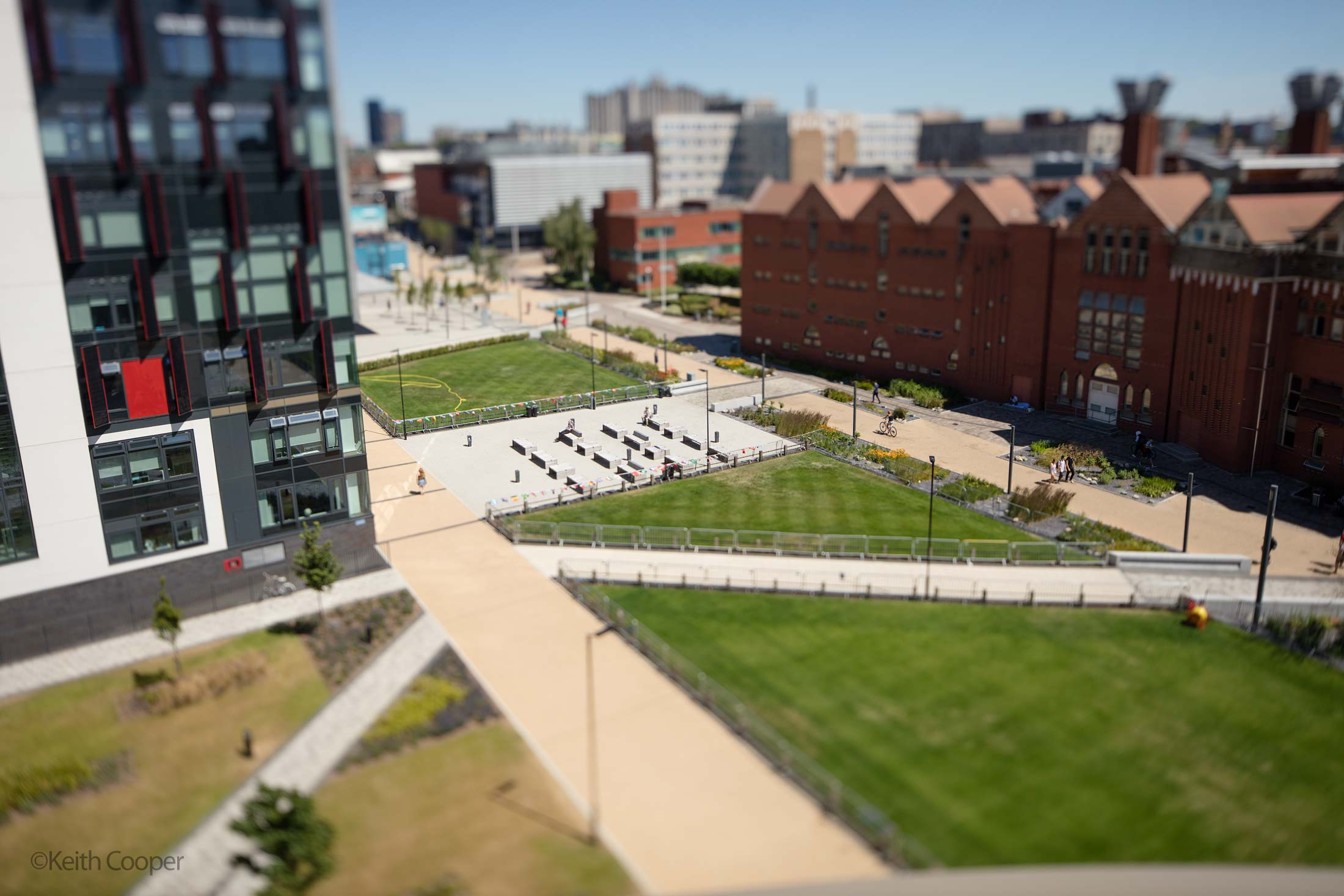 miniature world view DMU campus 1