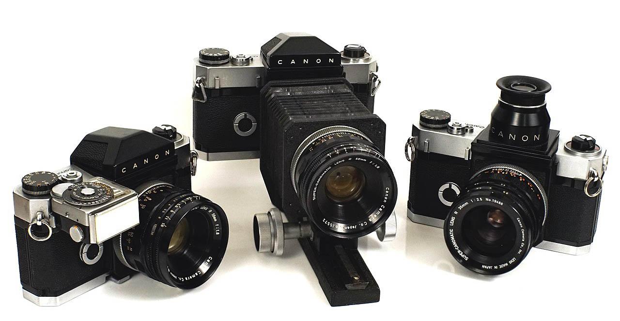 Canonflex camera trio