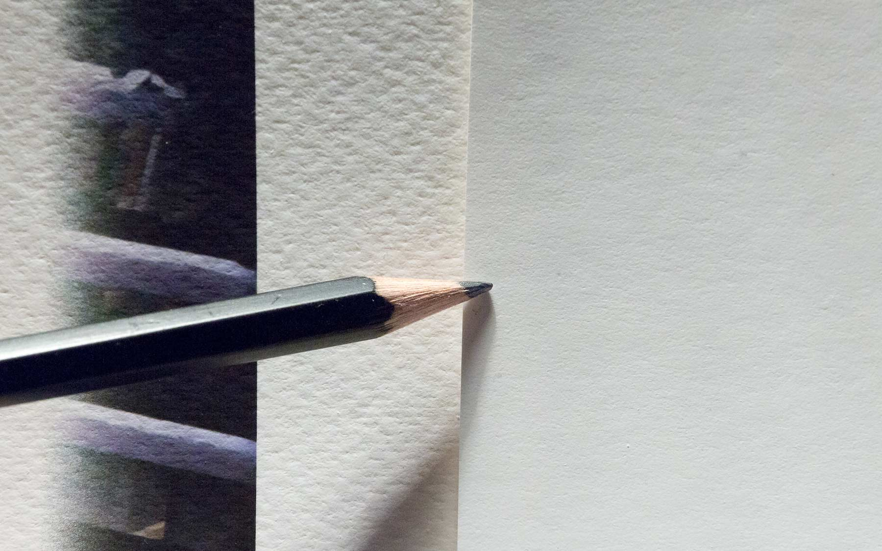 textured versus smooth paper surface