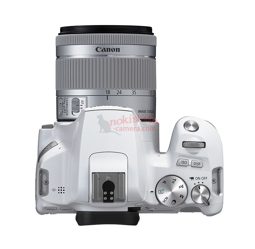 white canon 200d II top