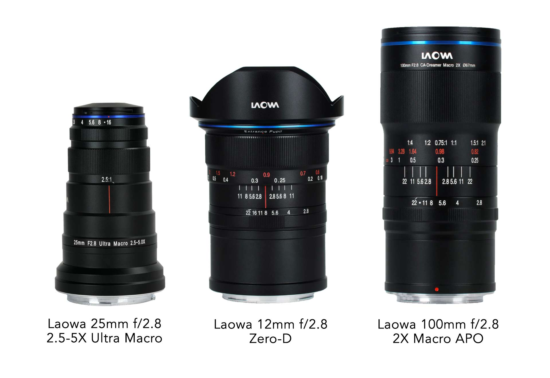 3 Laowa lenses in RF, Z mount