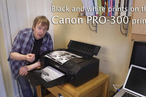 Video: B&W printing on the Canon PRO-300