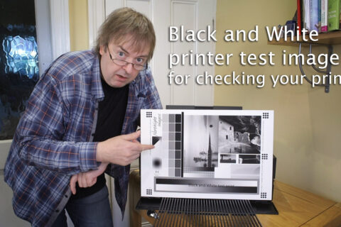 Video: The black and white printer test image