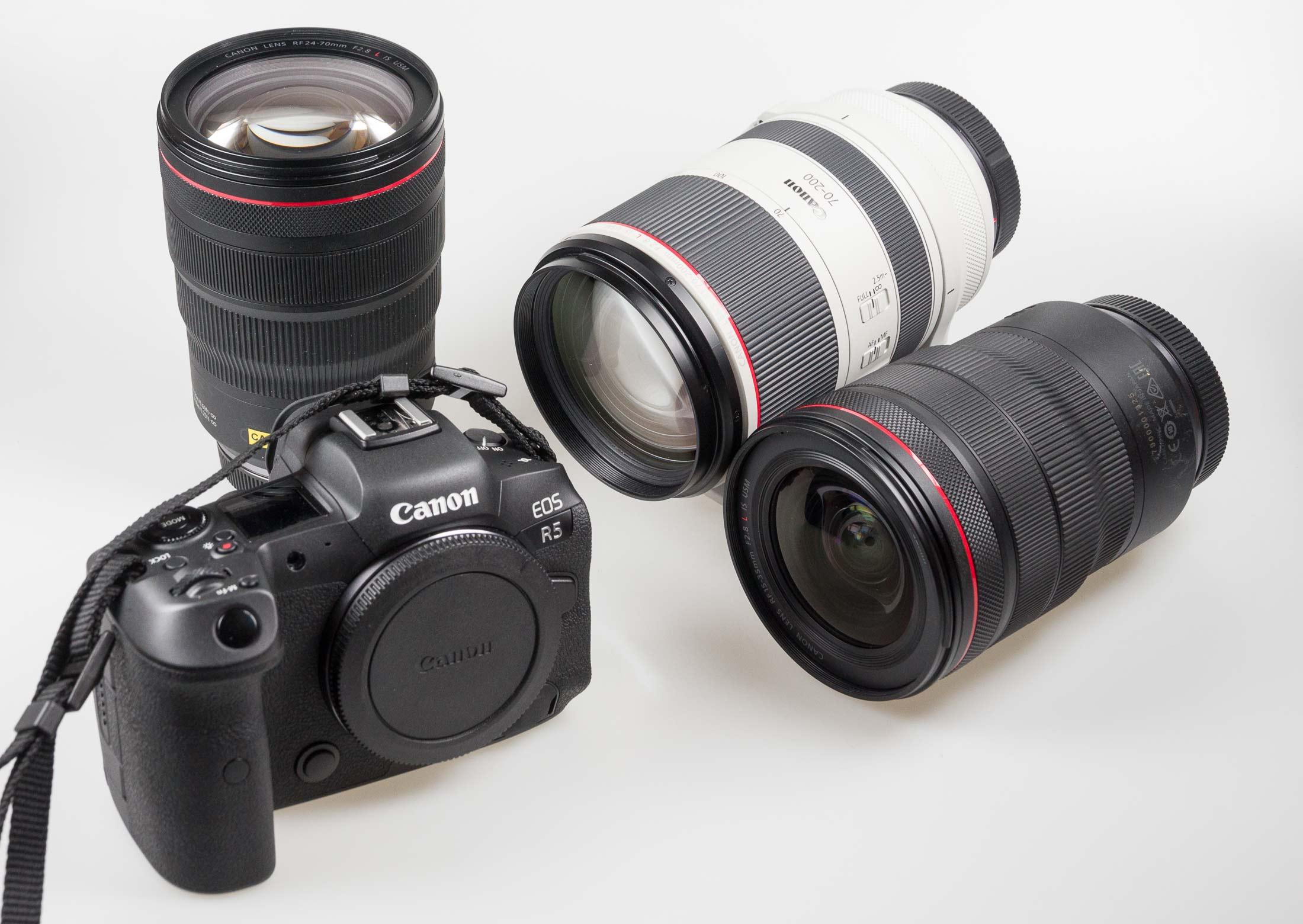 R5 camera and RF lenses