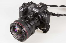 Canon drop-in filter adapter with tilt/shift