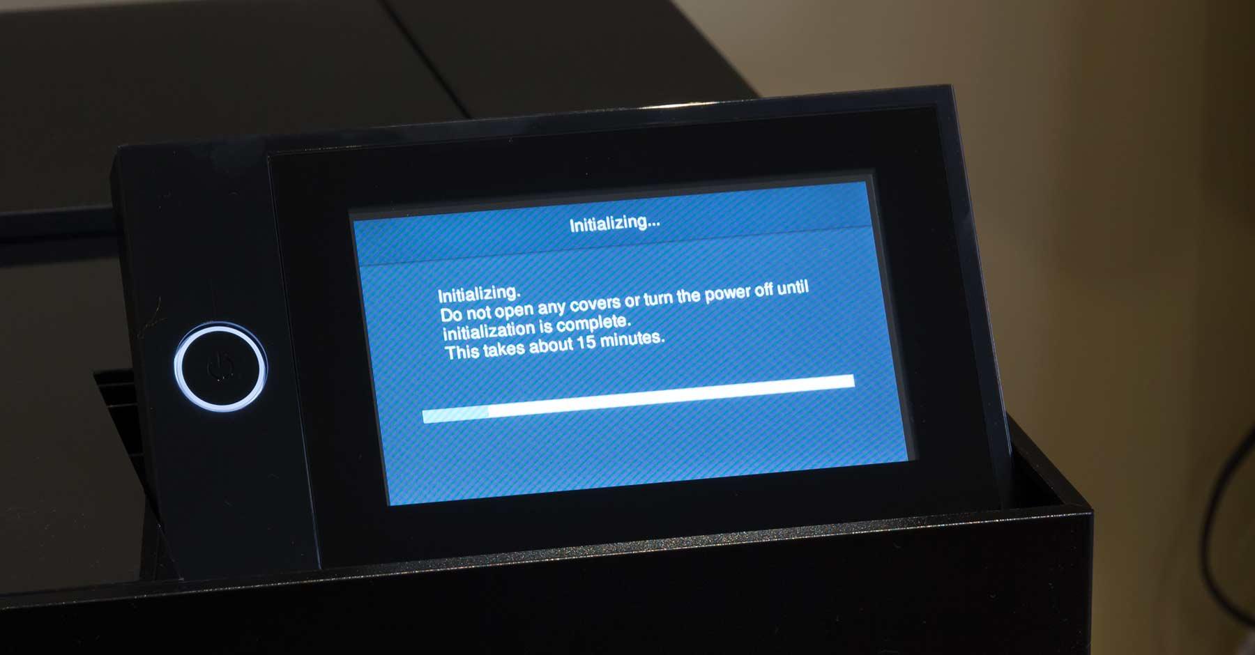 initialising the printer
