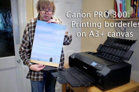 Video: An A3+ canvas print on the PRO-300