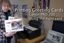 Video: Printing greeting cards - Canon PRO-200