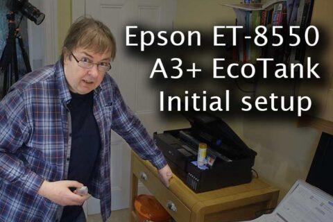 Video: Epson ET-8550 setup